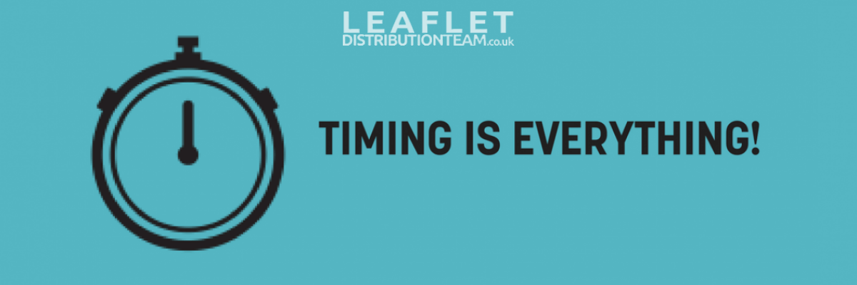 leaflet distribution timing